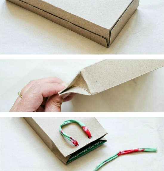 how to make a gift bag from grocery boxes