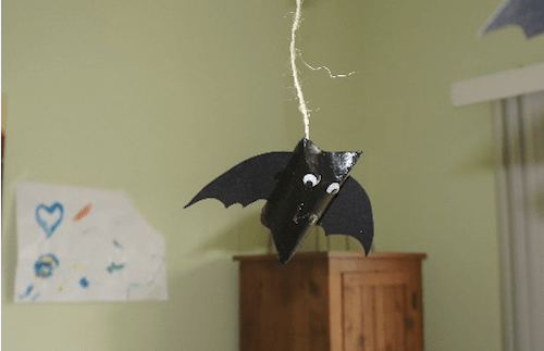Halloween Hanging Bat Craft