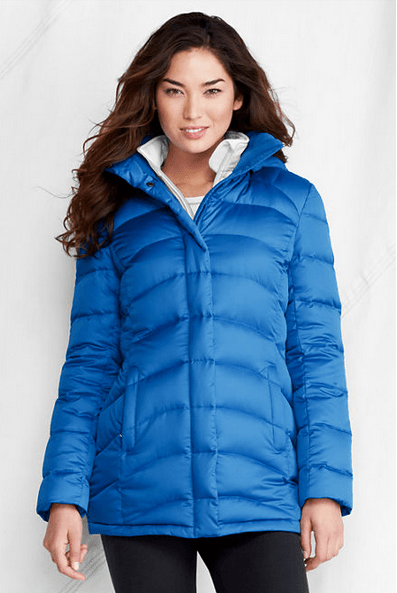 Land's End down coat blue