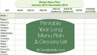 January 27 Meal Plan