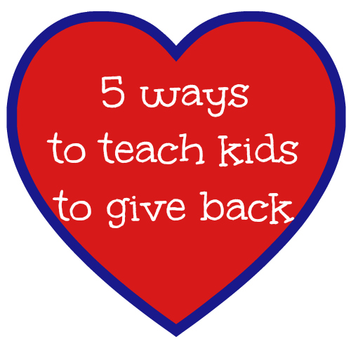 teach kids to give back