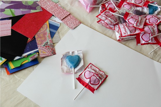 Sweethearts lollipop valentines