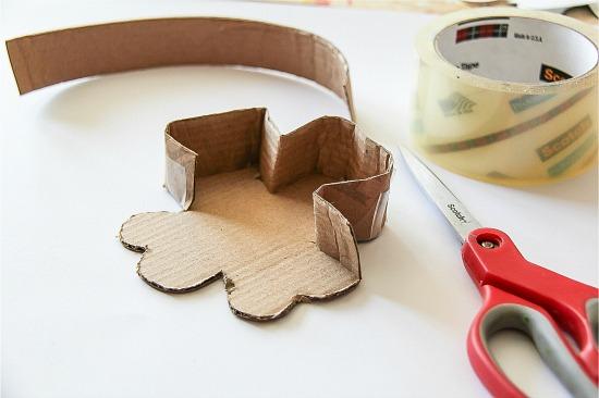 Make a cardboard piñata
