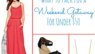 Affordable Weekend Getaway Looks for Under $50 #FashionFriday