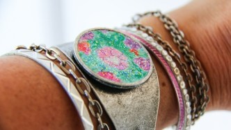 DIY Cuff: Wear Your Child's Art