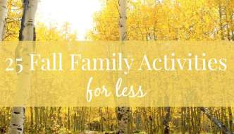 25 Fall Family Activities for Less