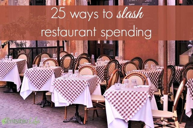 25 ways to slash restaurant spending