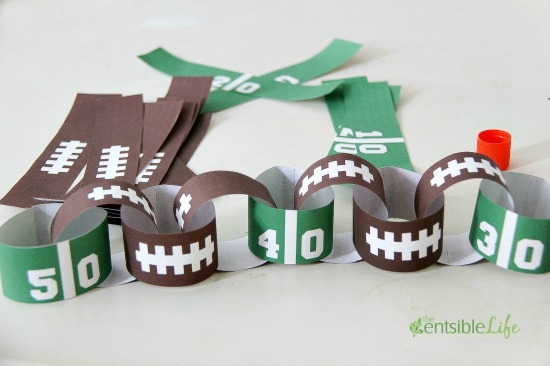 Super Bowl Game Day Paper Chain