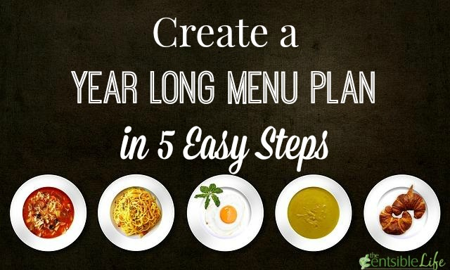 create a year long menu plan in 5 easy steps
