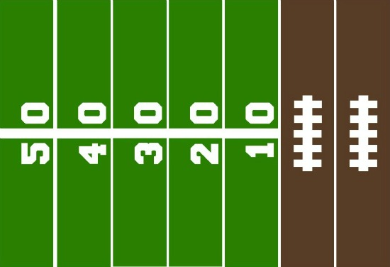 graphic about Printable Football Field Template titled Free of charge Printable Recreation Working day Paper Chain