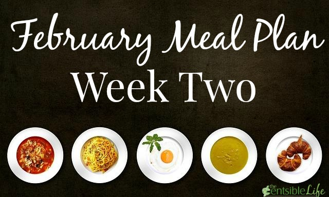 February Meal Plan Week Two