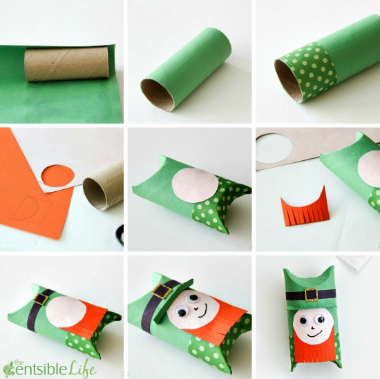 St. Patrick's Day: Paper Roll Leprechaun Craft