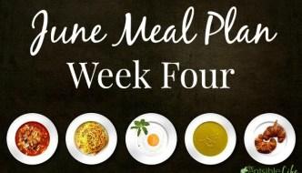 June Meal Plan: Week 4