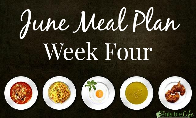 June Meal Plan week four