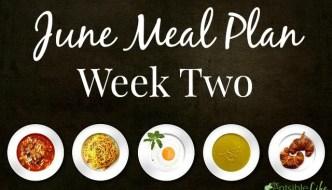 June Meal Plan: Week 2