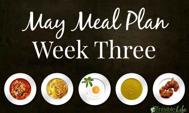 May Meal Plan week three