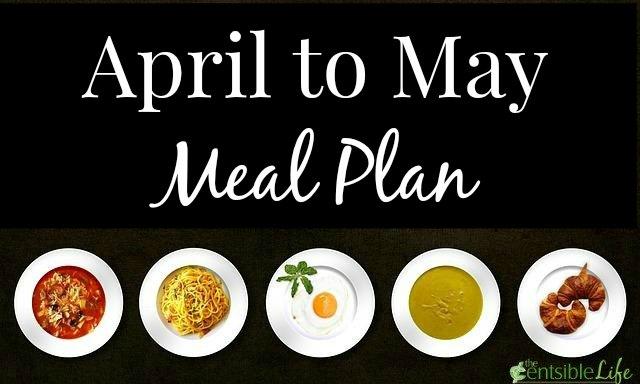April to May Meal Plan