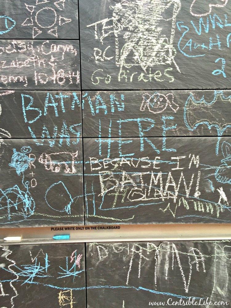 Community Chalkboard Batman Was Here