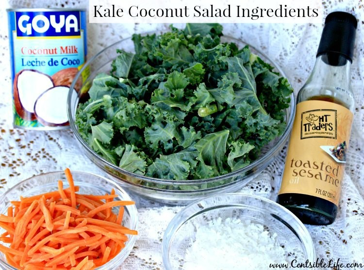 Kale Coconut Salad Ingredients