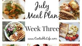 July Meal Plan: Week Three