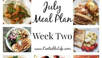 July Meal Plan: Week Two