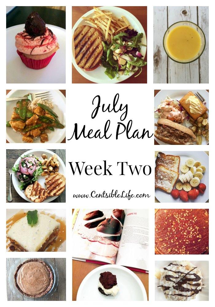July Meal Plan Week Two