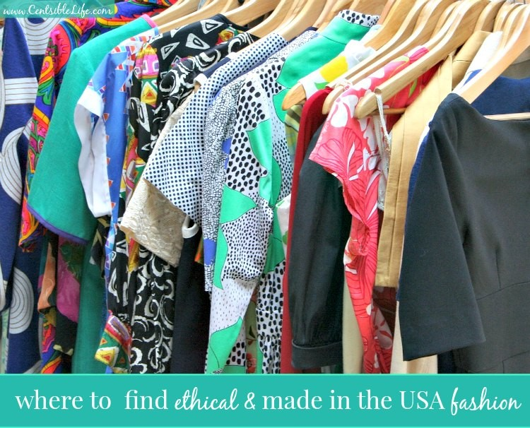 where to find ethical & made in the USA fashion