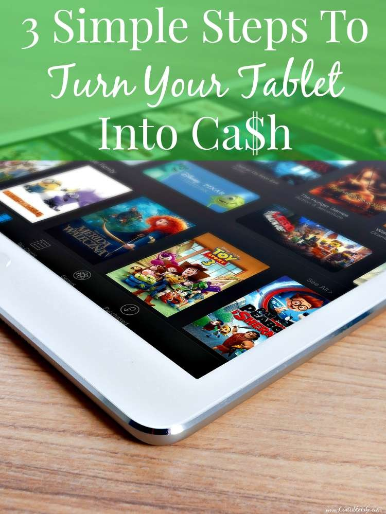 3 Simple Steps To Turn Your Tablet Into Cash Pinterest