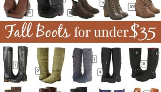 Fall Boots For Under $35