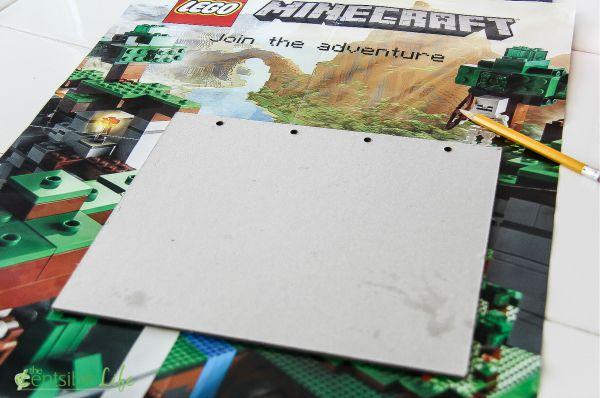 how to make a Minecraft iPad cover