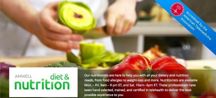 Amwell diet & nutrition app
