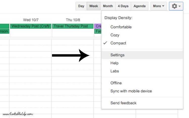 Calendar Settings Google Calendar