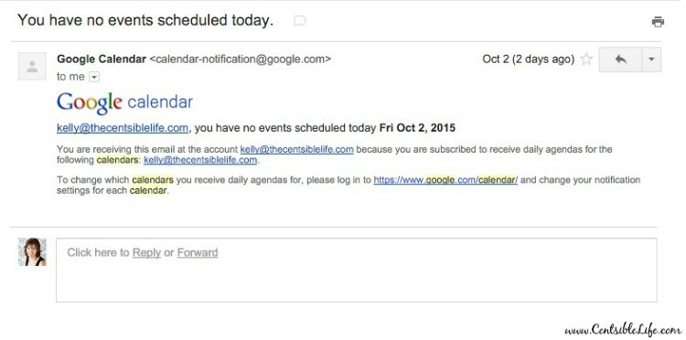 Google Calendar Events