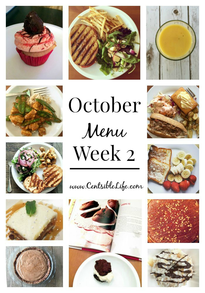 October Menu Plan Week 2