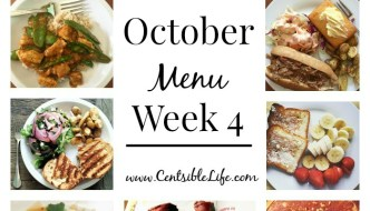 October Menu Plan: Week Four