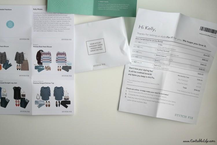 Paperwork StitchFix
