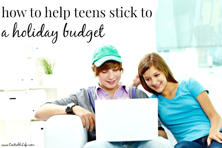 Help Teens Holiday Budget