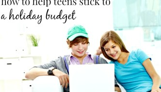 Help Teens Holiday Budget