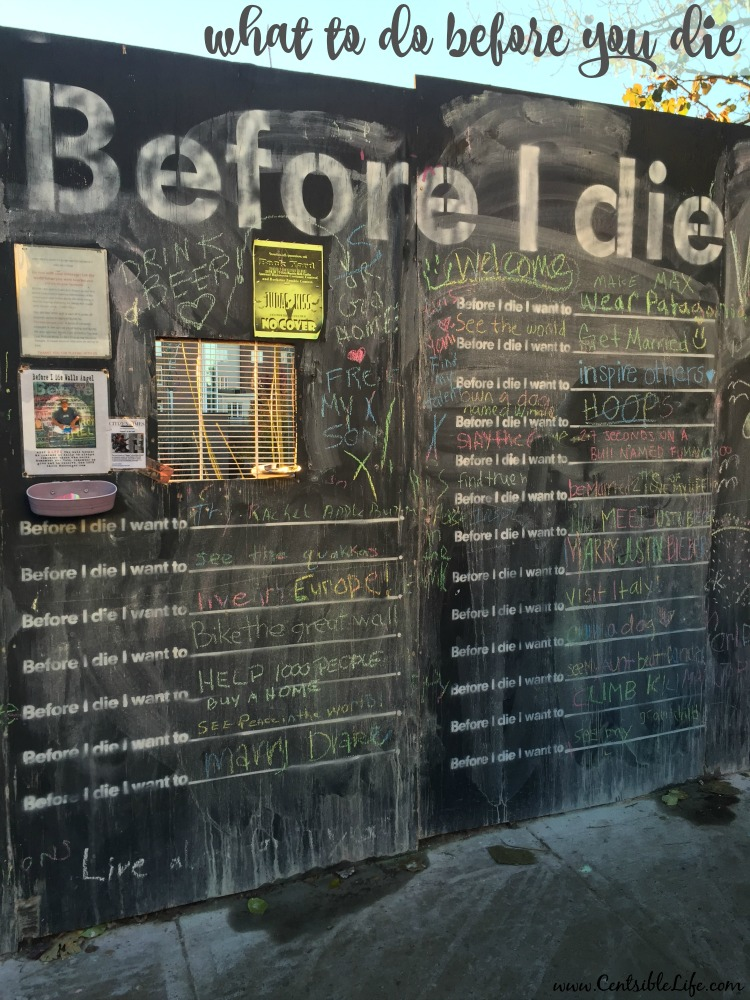 what to do before you die