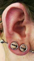 Unique Earlobe Piercings