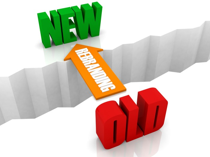 Rebranding is the bridge from OLD to NEW.