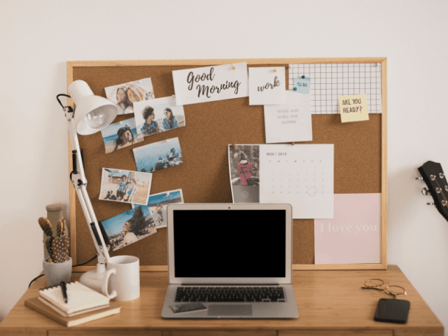 Use Your Best Insta Pictures To Decorate Work Desk