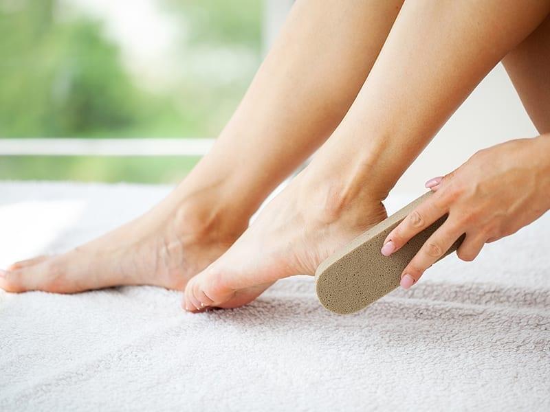 Get Rid Of Stinky Feet With Foot Scrub
