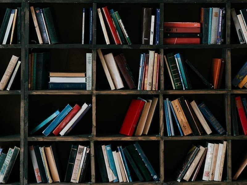 English-Style Bookshelf Decor