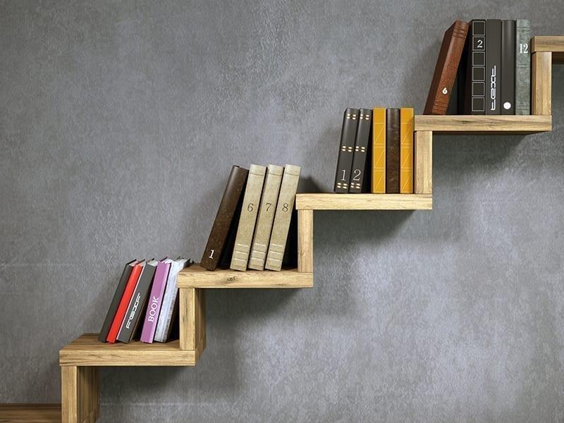 Stair-Style Bookshelf Décor