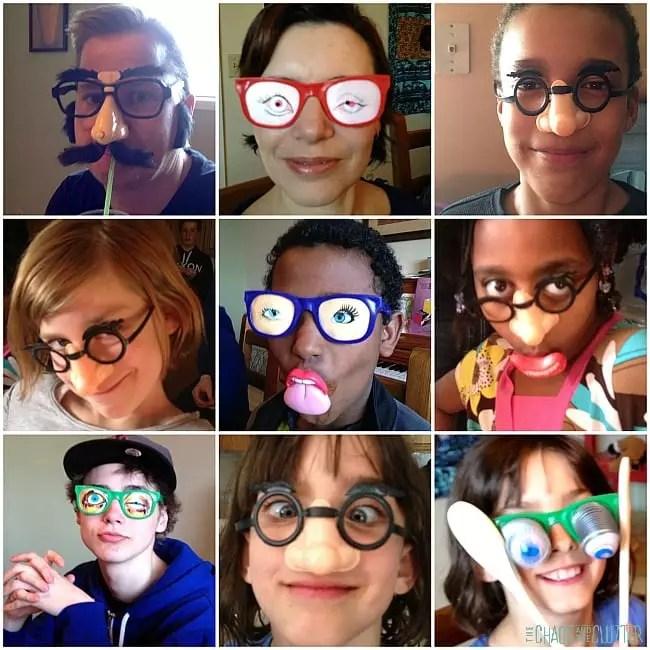 коллаж глупые очки