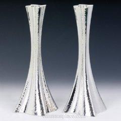 Bolero Hammered Silver Candlesticks