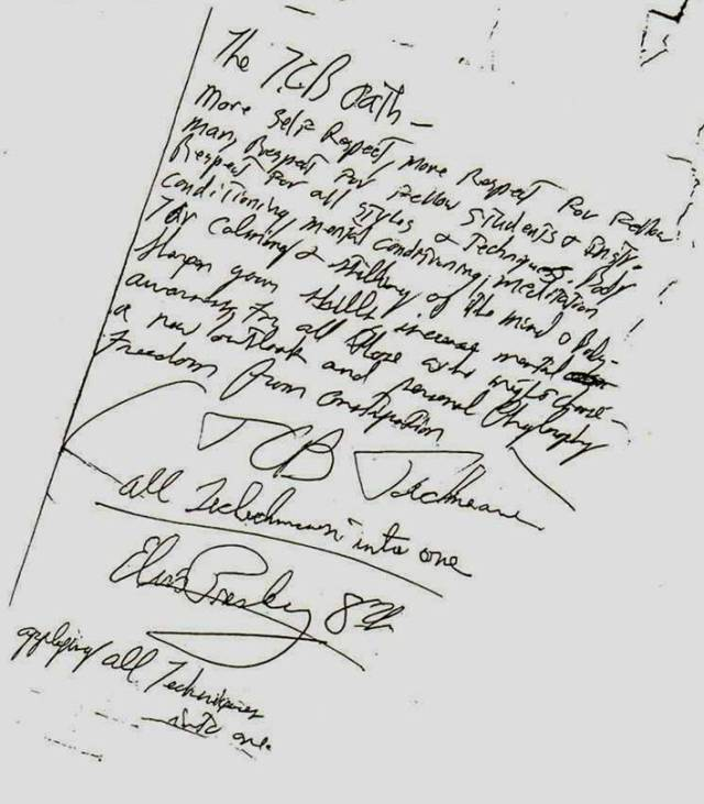 Elvis Presley TCB Oath