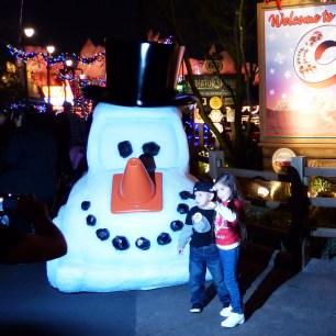 Frosty the Snowman Car at Cars Land Disneyland
