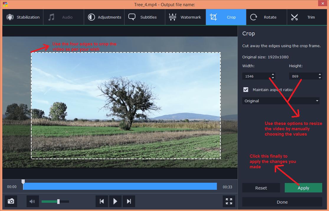 movavi video converter edit crop